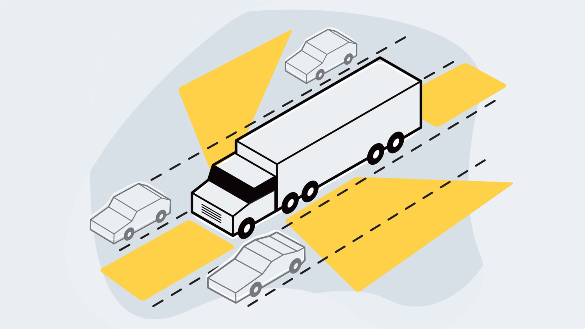 Big Trucks Blind Spots And Road Safety Ama