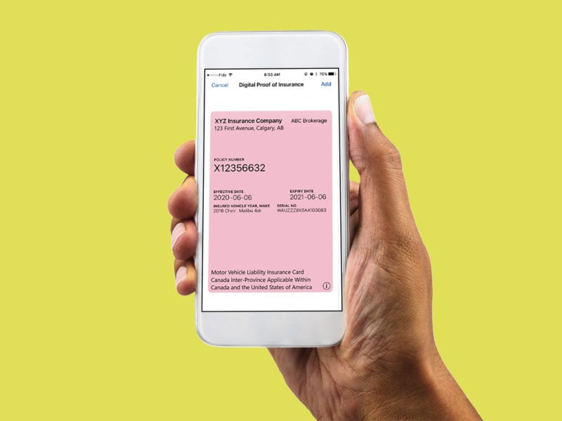 Introducing the Digital Pink Card for Alberta Auto Insurance