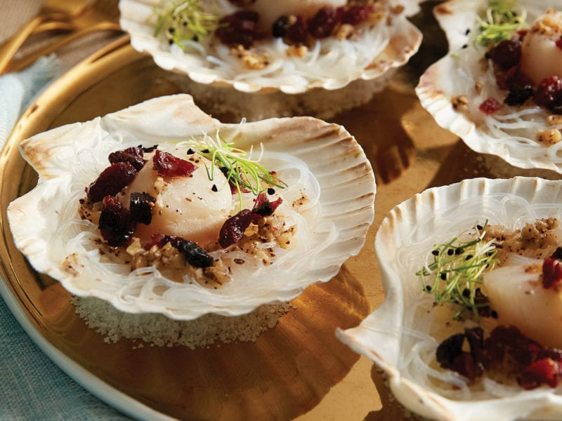 Festive Food: Chef Matthias Fong's Steamed Scallop with Bagna Càuda and Birch Syrup