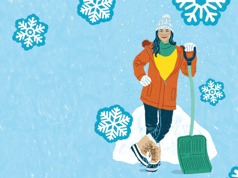 How to Shovel Snow Without Stressing Your Spine