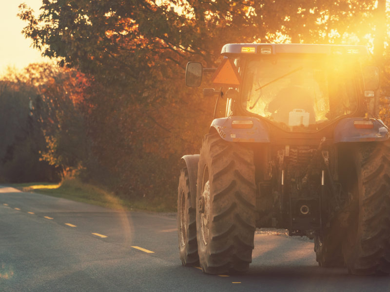How to Share the Road with Farm Vehicles During Alberta's Harvest Season